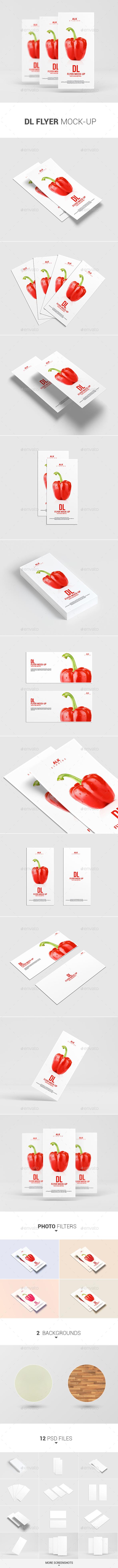 DL Flyer Mock-Up - Product Mock-Ups Graphics