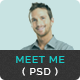 Meet Me - One Page Creative Portfolio PSD Template Nulled