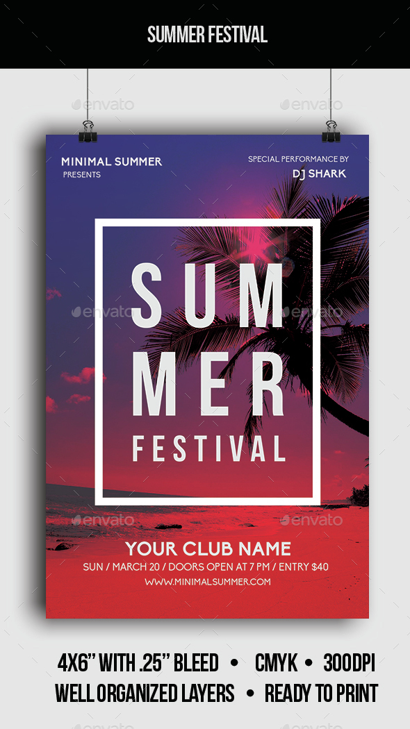 Summer Festival - Flyer - Clubs & Parties Events