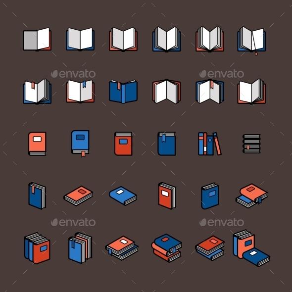Book Color Icons - Miscellaneous Vectors