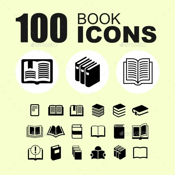 Book icon set - Objects Icons
