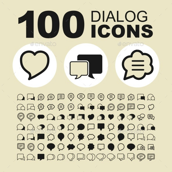 Dialog icons - Abstract Icons