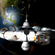 Spaceship And Planet Earth - VideoHive Item for Sale