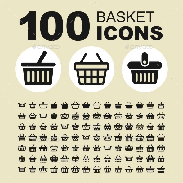 Shopping basket icons - Objects Icons