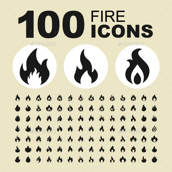 Fire icons - Abstract Icons