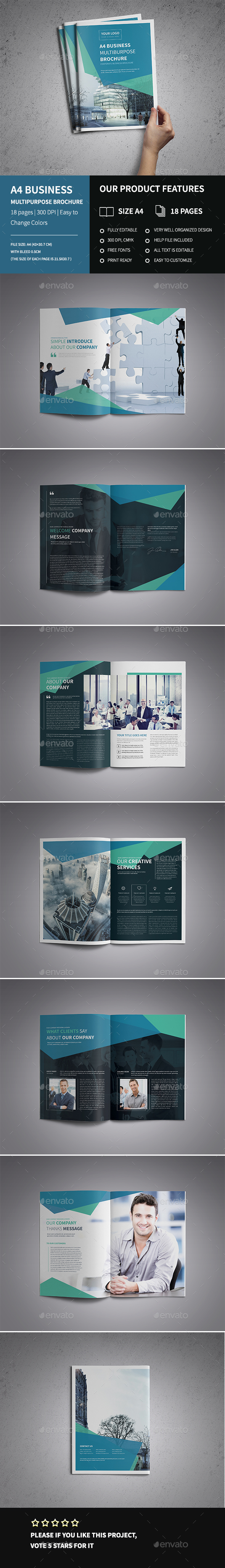 New A4 Corporate Business Brochure - Corporate Brochures