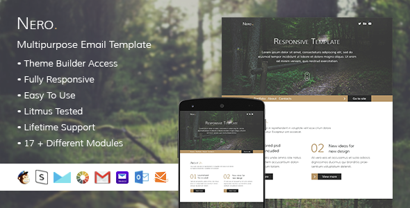 Nero – Responsive Email + StampReady Builder