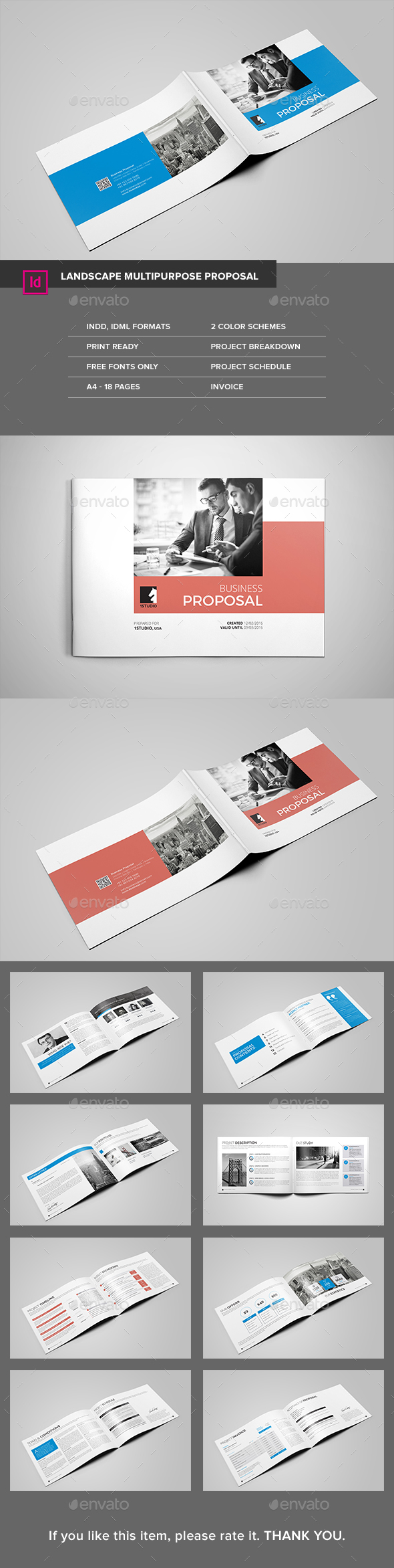 Landscape Multipurpose Proposal - Proposals & Invoices Stationery