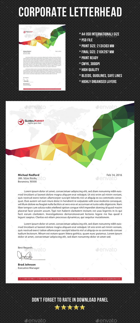 Corporate Letterhead v02 - Stationery Print Templates