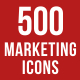 500 Marketing Icons Bundle - GraphicRiver Item for Sale