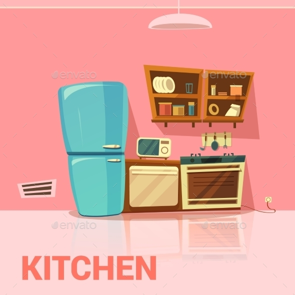 Kitchen Retro Design  - Man-made Objects Objects