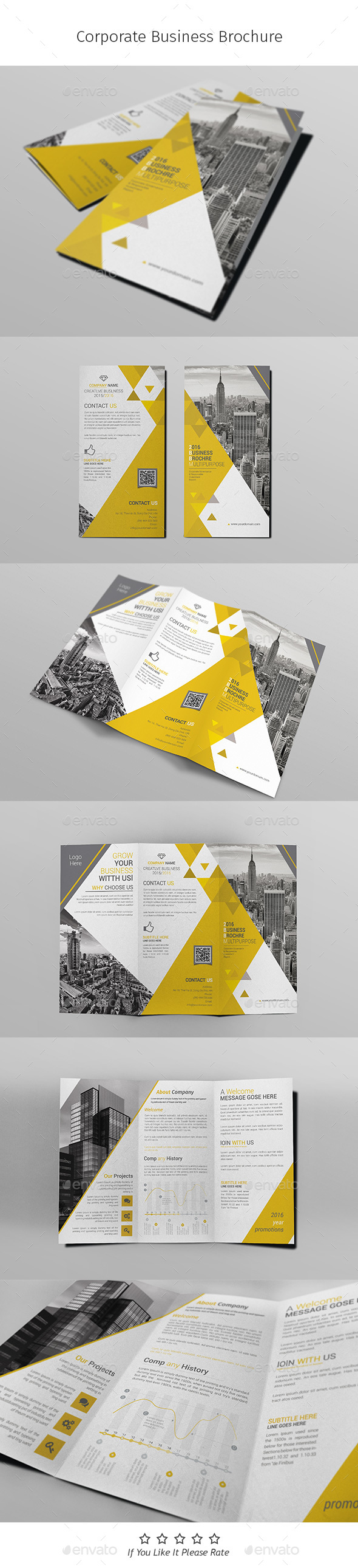 A4 Corporate Business Flyer Template Vol 10 - Corporate Brochures