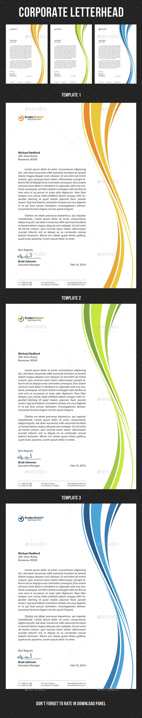 Corporate Letterhead v03 - Stationery Print Templates