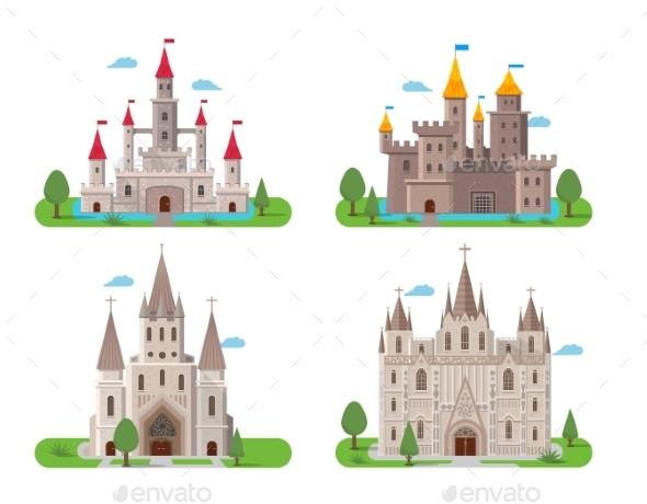 Medieval Ancient Castles Set - Buildings Objects
