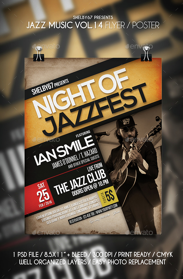 Jazz Music Flyer / Poster Vol 14 - Events Flyers