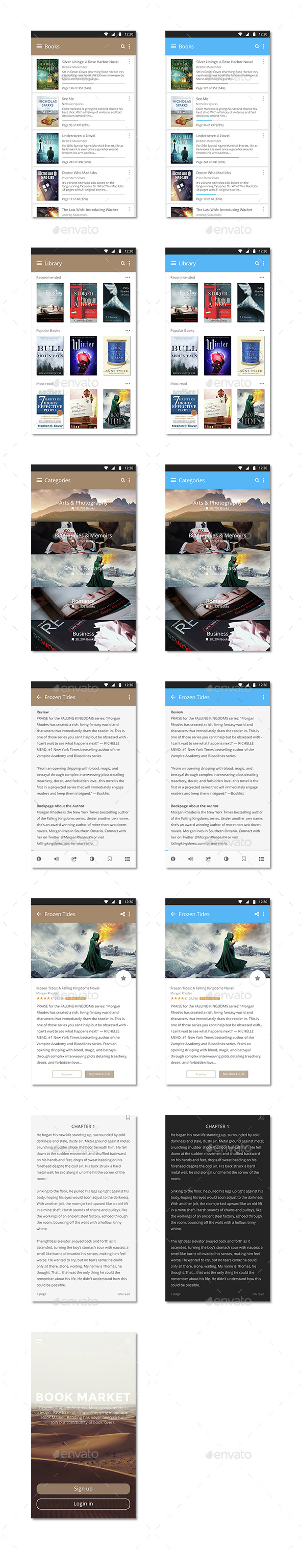 Book Market Android - User Interfaces Web Elements