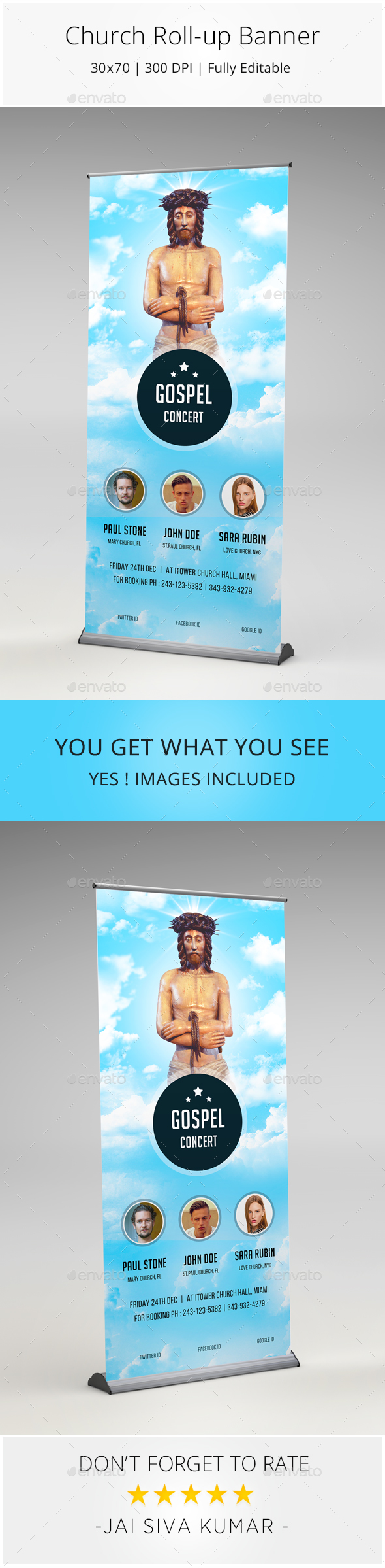 Church Rollup Banner - Signage Print Templates