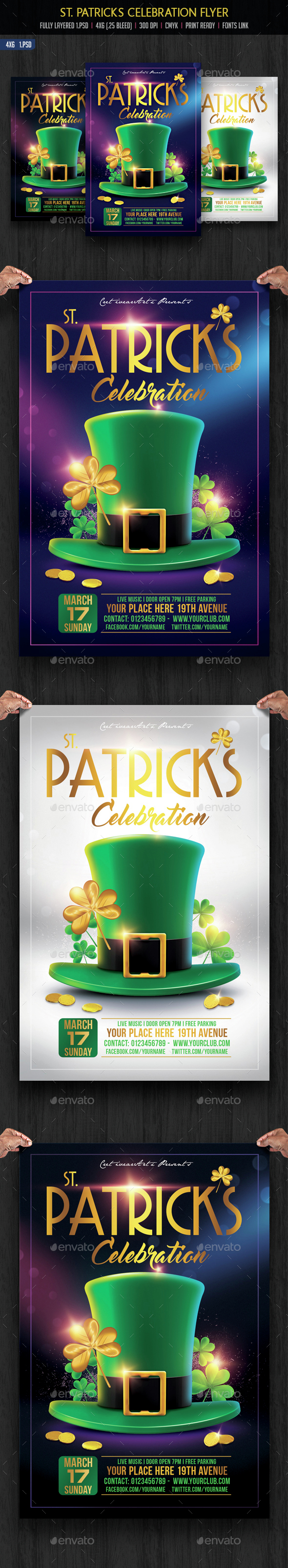 St. Patricks Celebration Flyer - Events Flyers