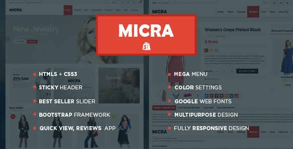Micra - Responsive Shopify Theme