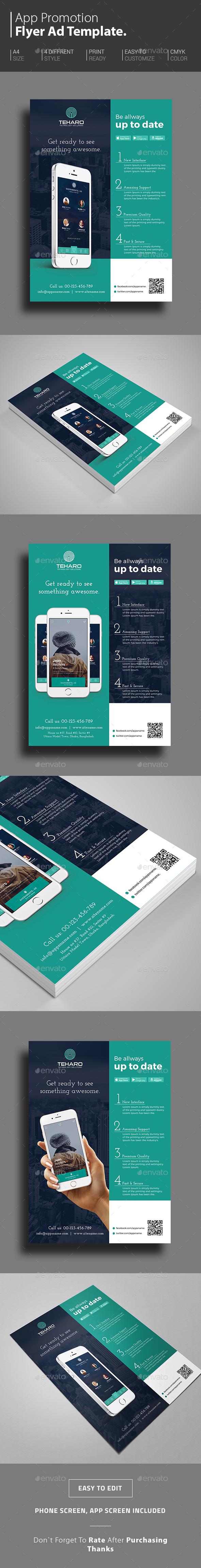 App Promotional Flyer - Commerce Flyers