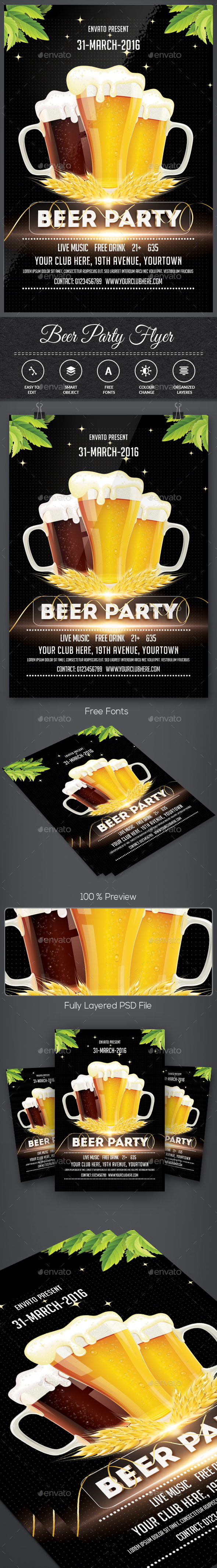 Beer Flyer - Clubs & Parties Events