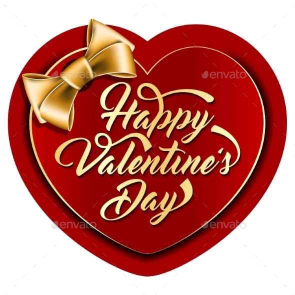 Valentine Card with Inscription - Valentines Seasons/Holidays