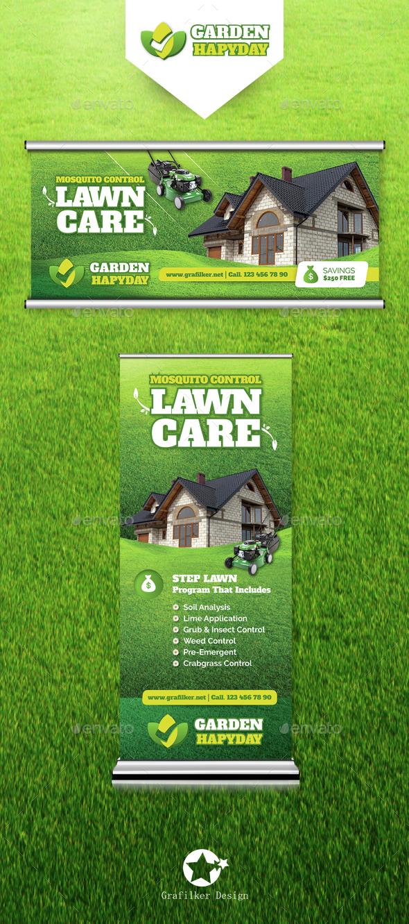 Garden Landscape Bilbloard & Roll-Up Templates - Signage Print Templates