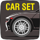Car Set - GraphicRiver Item for Sale
