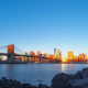 Rocky Shore and the Sunrise over Manhattan - VideoHive Item for Sale
