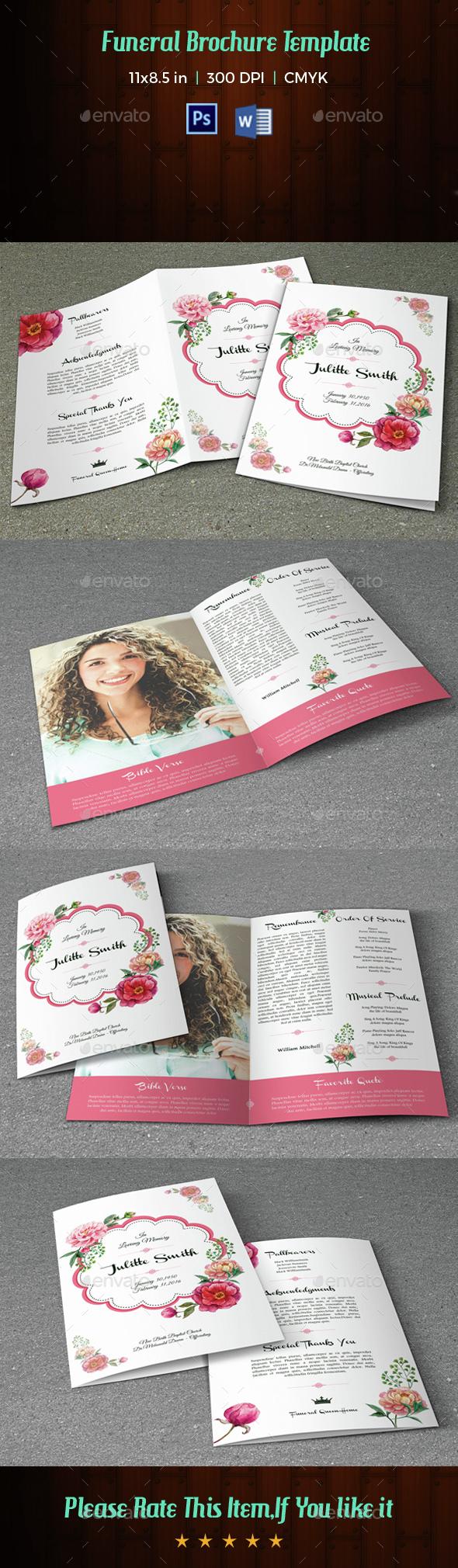 Funeral Program Template-V10 - Informational Brochures