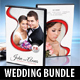 4 in 1 Wedding DVD Cover Templates Bundle 02