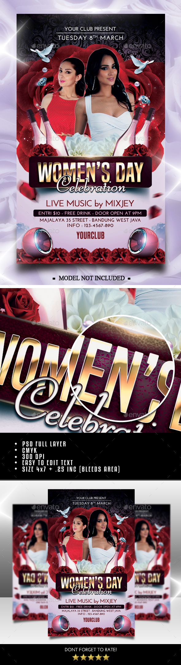 Womens Day Flyer - Clubs & Parties Events