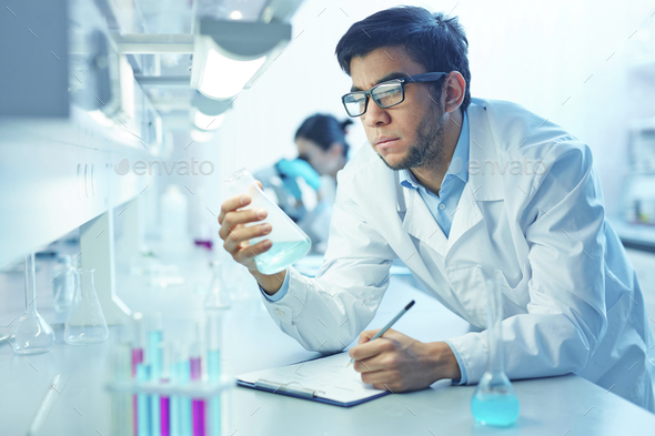 Scientist working - Stock Photo - Images