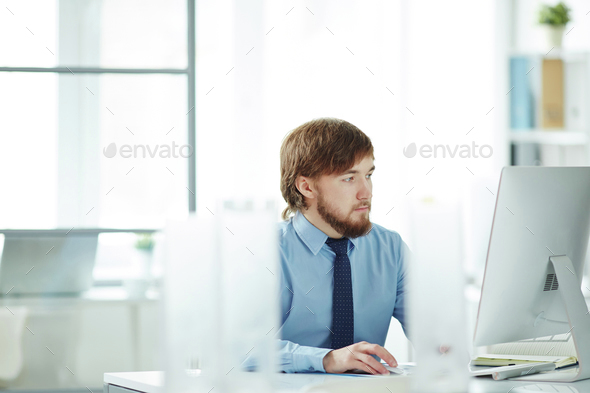 Employee at work - Stock Photo - Images