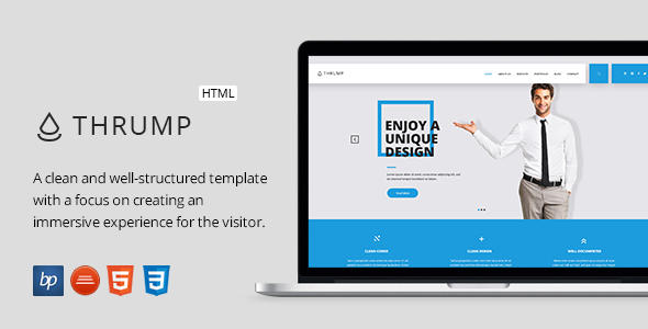 Thrump – Responsive Business HTML5 Template