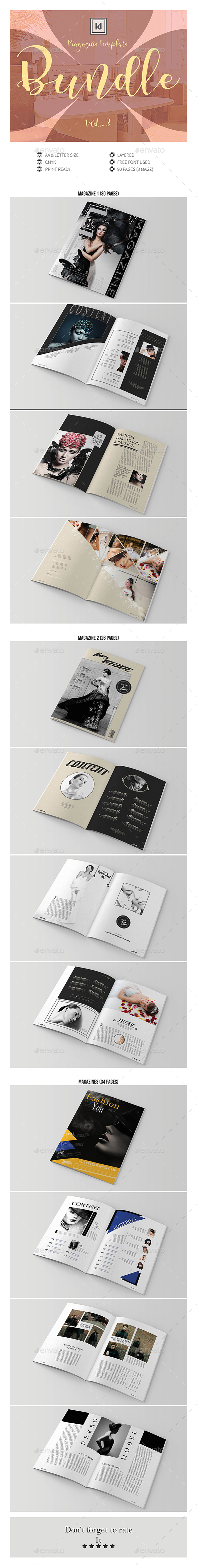 Multipurpose InDesign Magazine Template Bundle V.3 - Magazines Print Templates