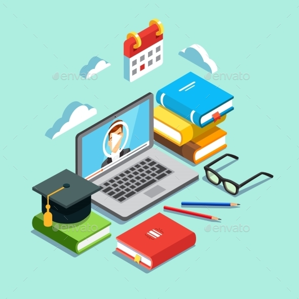Online Education Concept - Web Technology