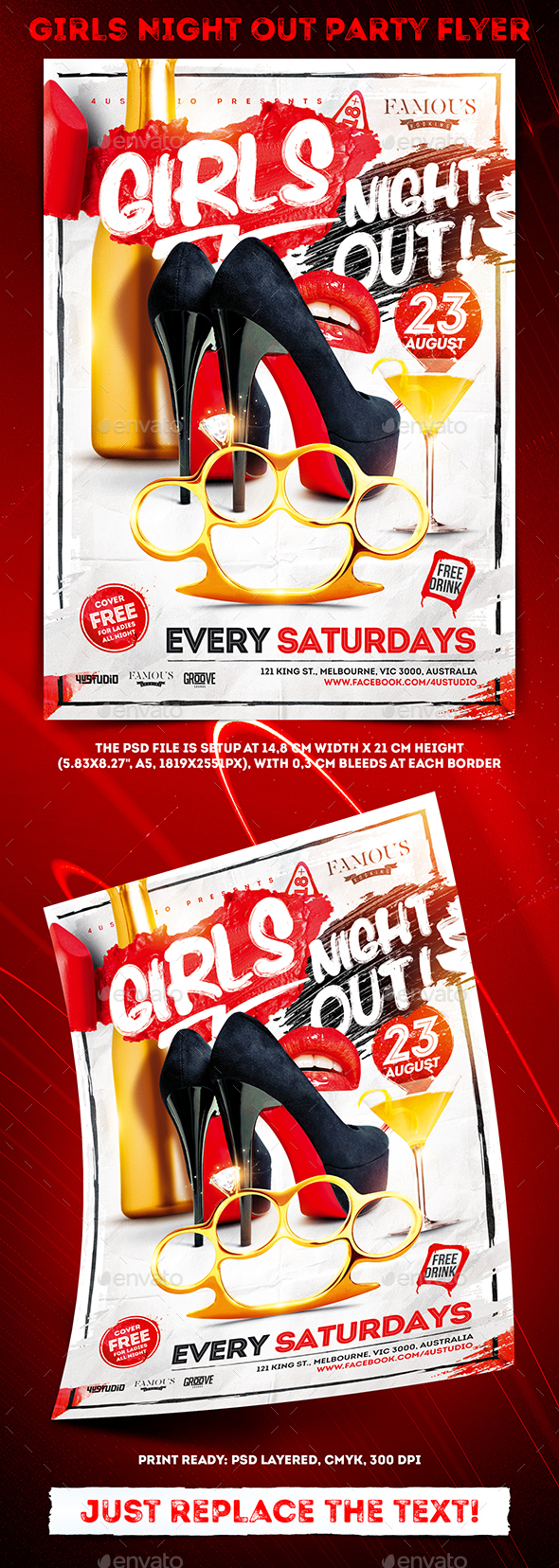 Girls Night Out Party Flyer vol.2 - Clubs & Parties Events