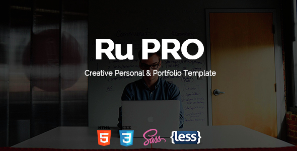 RuPRO - One Page Responsive Resume Template - Personal Site Templates
