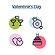 Trends Colorful Valentine icons - GraphicRiver Item for Sale