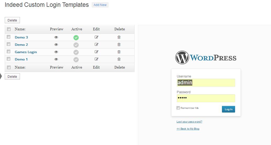 how to create login page in wordpress theme