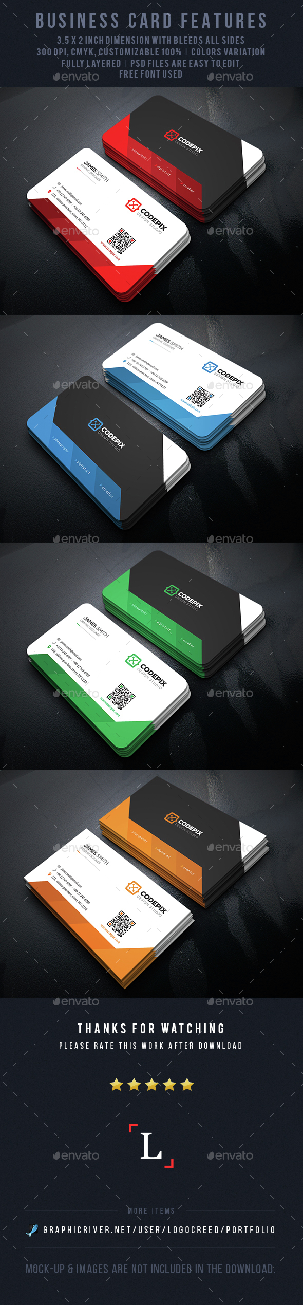 Shade Corporate Business Card - Business Cards Print Templates