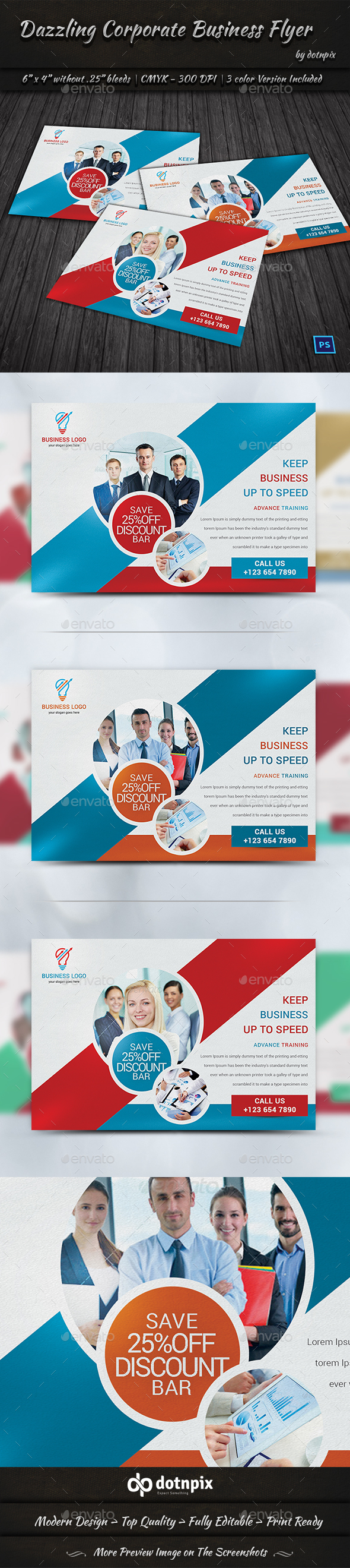 Dazzling Corporate Business Flyer - Corporate Flyers