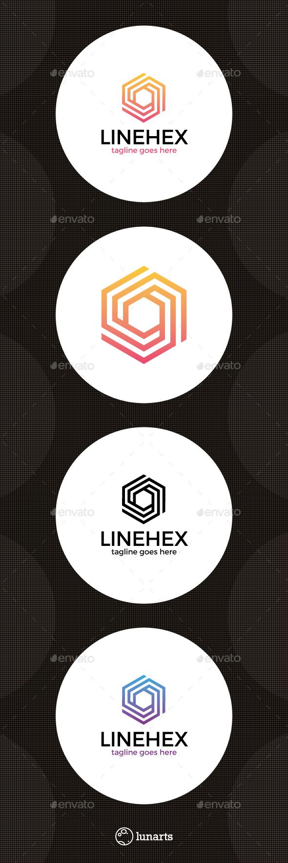Hexagon Line Cube Logo - Abstract Logo Templates