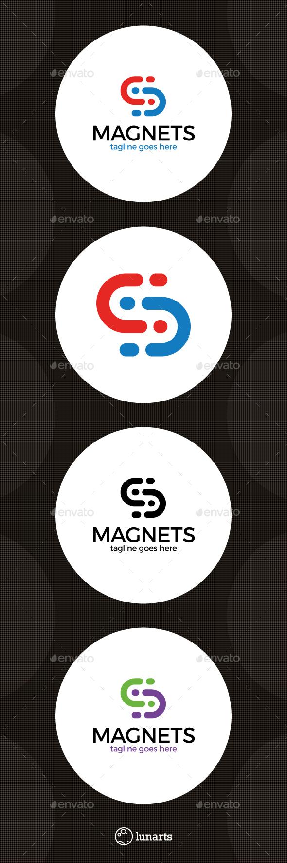 Synergy Magnet Logo - Letter S - Letters Logo Templates