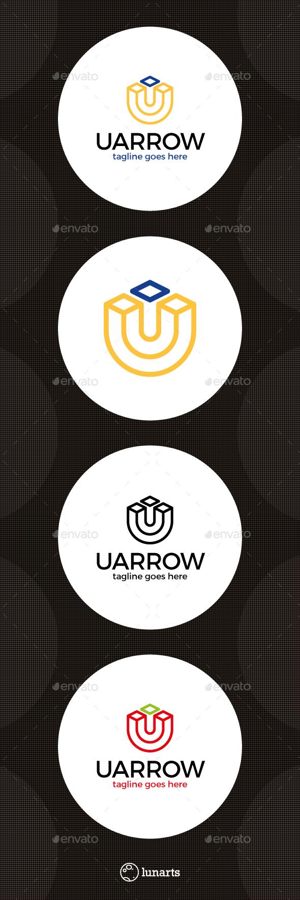 Letter U Arrow Logo - Letters Logo Templates