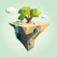 Low Poly Island for your Design - GraphicRiver Item for Sale