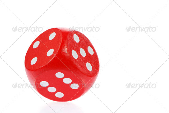 Red dice - Stock Photo - Images