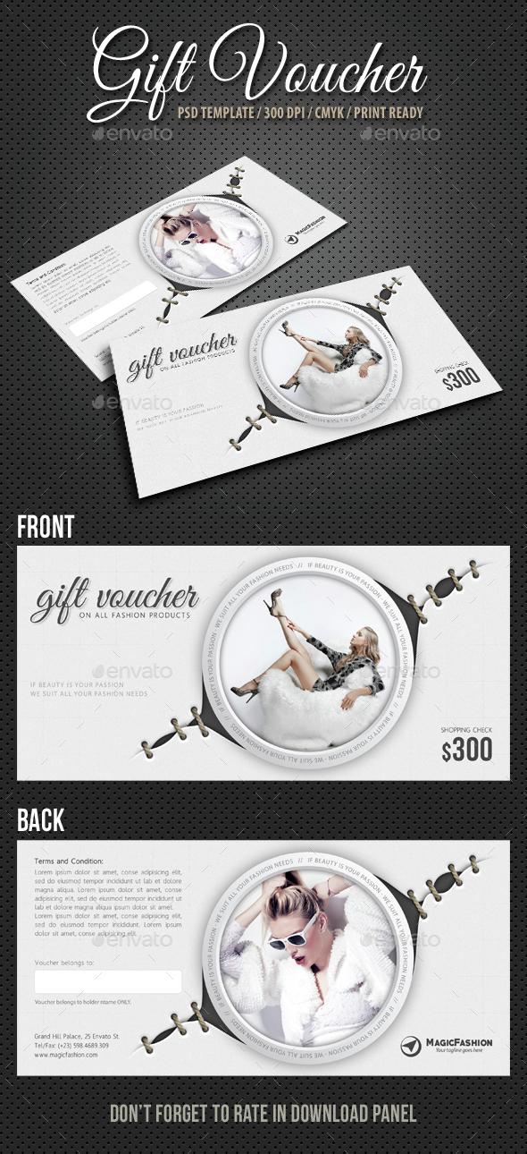 Elegant Gift Voucher V05 - Cards & Invites Print Templates