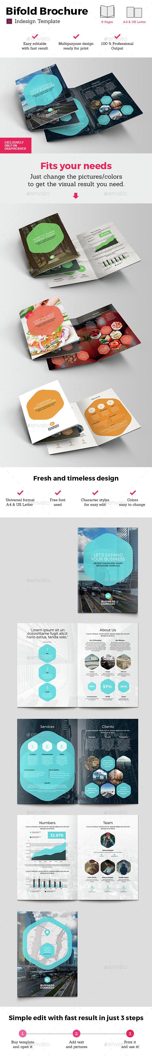 Universal Bifold Brochure Indesign Template - Brochures Print Templates